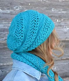 KNITTING PATTERN PDF Dream Slouch Hat - Slouch hat knit pattern - knit pattern hat - Adult Knit hat