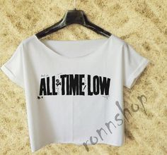 All time low Shirt Women Crop Tee white TO 44B on Etsy, 89,78 kr