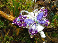 Pretty Purple Butterfly Badge Reel  by BadgeAlleybyGerAnne on Etsy