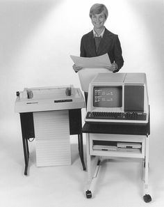 Computer and line printer blast from the past.