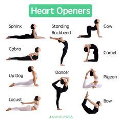All the heart openers that your heart could desire!   What are your favorite backbends?
