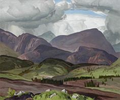 A.J. Casson - In The Ladder Hills Scotland 30 x 36 Oil on canvas (1962)