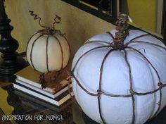 cute twine wrapped pumpkins