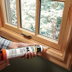 Seal Windows with Removable Caulk Leaky windows lead to major energy loss in a typical home. A quick, low-cost solution is to seal the gaps with removable caulk. Just apply the caulk over gaps and pull it off in the spring. Clean off any residue with mineral spirits.