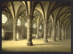 [The knights' hall, Mont St. Michel, France]