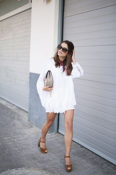 jessie chanes seams for a desire white boho blouse brown platforms heeled sandals-7