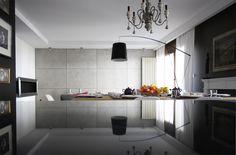 Beton na ścianie Decor, Cabinet, Furniture, Concrete, Kitchen, Indoor, Interior Design, Home Decor, Kitchen Cabinets