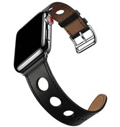 Apple watch band 42mm 38mm Noir Gala Genuine Leather iwatch