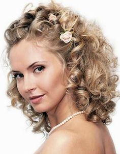 wedding hairstyles for curly hair Wedding Updo