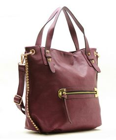 Take a look at this Plum Mila Shoulder Tote by Robert Matthew on #zulily today!