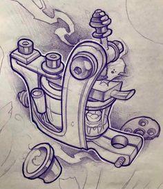 Resultado de imagen para diseño de dibujo de maquina de tatuar