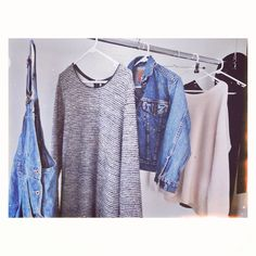 Sweaters and denim