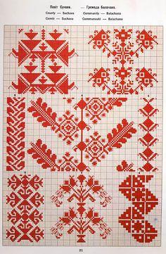 FolkCostume&Embroidery: May 2016 Cross Stitch Geometric, Cross Stitch Borders, Cross Stitch Charts, Cross Stitching, Folk Embroidery, Cross Stitch Embroidery, Embroidery Patterns, Palestinian Embroidery, Dress Sewing Patterns
