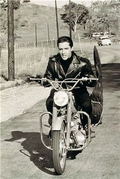 The king on a vintage bike!
