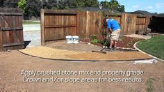 Crushed Stone Pathway featuring TechniSoil & EdgePro