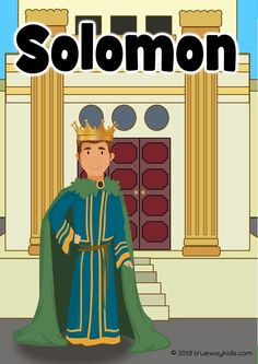 Free printable Bible lesson for preschool kids. Use at home or at Sunday School. Learn about Solomon