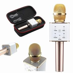 SEVE RACRE GARIA Wireless Microphones,Hot Sale Q7 Karaoke Microphone Wireless Bluetooth Handheled KTV Microfonos Inalambricos Profesionales Mic Speaker For Phone PC
