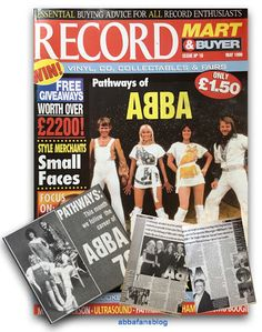Abba were featured on the cover of the May 1999 issue of Record Mart magazine in the UK - visit my blog to read the article #Abba #Agnetha #Frida #Vinyl http://abbafansblog.blogspot.co.uk/2017/02/record-mart.html