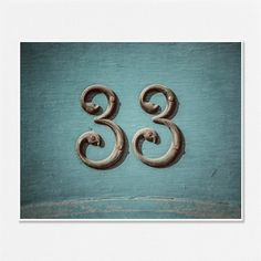 33 Number Art ThirtyThree Thirty Three Number by LisaRussoFineArt, $30.00 - My favorite number 3.  Cool print!