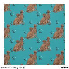 Vizsla blue fabric