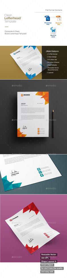 Corporate letterhead template letterhead template and letterhead spiritdancerdesigns Choice Image