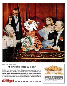 Quite possibly the ritziest Frosted Flakes ad ever!