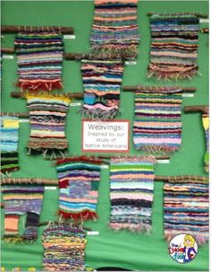 We do weavings every year to tie into our Native American studies. These were done on a simple cardboard loom. (image only)
