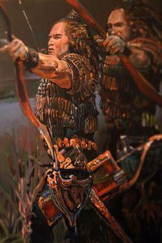 Hunor Magor by zalan kertai on ArtStation. Old Warrior, Tribal Warrior, Fantasy Warrior, World Of Warriors, Fantasy Concept Art, Celebrity Gallery, Anime Fantasy, Historical Pictures, Ancient History