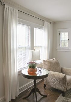 Ikea LENDA curtains, more natural white than RITVA, which are more ivory.