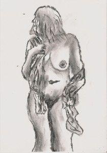Exposure Watercolor Art, Female Sketch, Exposure, Painting, Art, Humanoid Sketch