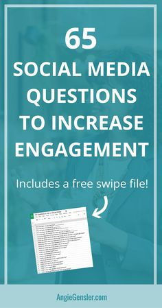 Asking questions on social media is a great way to engage your audience. Here are 65 social media questions you can ask to increase engagement. #socialmedia #socialmediatips #socialmediamarketing