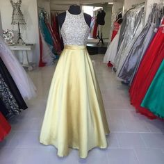 Charming Prom Dress,Sequined Prom Dress,Prom Dress,Satin Prom Dress,Beading Evening Dress,Long Prom Gowns,Formal Dress,Modest Prom Dress,
