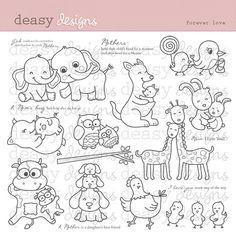 Digital Art di francobolli Forever Love di DeasyDesigns su Etsy
