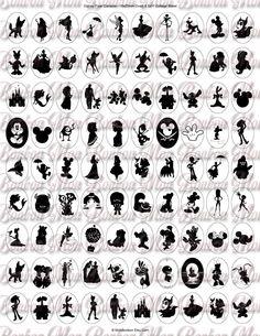 Disney Pixar Kameen und Silhouetten Schmuck Supply von monbonbon