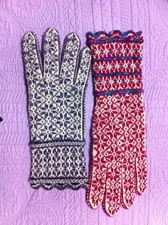 The Cultural Fusion glove includes instructions for a glove, size large. There are also instructions for adapting the glove to both your hand size and individual gauge using needles and yarn of your choosing. This is, in effect, both a pattern and a recipe for making gloves to fit your hand.