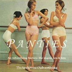 Panties ad CD-ROM: 100 ads 1940s 1950s 1960s THIS IS ONE OF MY 'MOST FAVORITE' AD FOR LADIES HIGH WAIST NYLON PANTIES!