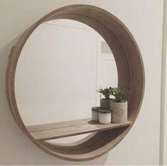 round mirror with shelf kmart - Google Search