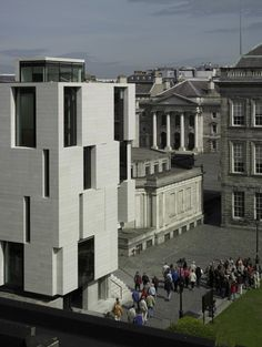 Trinity Long Room Hub in Dublin by Mccullough Mulvin Architects