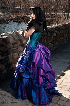 Steampunk Bustle with Ruffle Detachable Burlesque Mardi Gras Half Skirt Victorian Costume Petite to Plus size Custom to Order ONE Size Victorian Costume, Steampunk Costume, Gothic Steampunk, Victorian Gown, Steampunk Clothing, Steampunk Fashion, Gothic Fashion, Look Fashion, Skirt Fashion