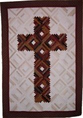 Log cabin cross quilt