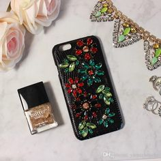 Classy Apple Iphone Cases&Covers With Genuine Leather Bling Bling Czech Crystal/Diamond Mysterious Black Color Sexy And Elegant Cell Phone Parts Other Cell Phone Parts From Yamazhouzhe, $30.37| Dhgate.Com