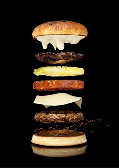 Modernist Cuisine and Nathan Myhrvold, Levitating Hamburger