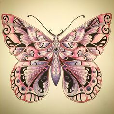 Magical jungle Butterfly Johanna Basford   Faber Castell Polychromos
