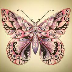 Magical jungle Butterfly Johanna Basford   Faber Castell Polychromos