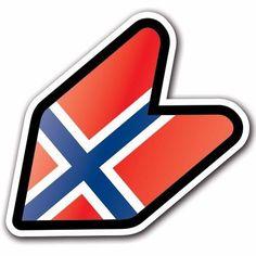 Norway - JDM Wakaba Leaf Flag Decal Sticker Car Macbook Shoshinsha Honda #CUSTOMI