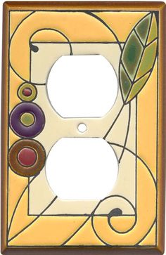 LEAF SPIRAL Switch Plates, Outlet Covers & Rocker Switchplates:  Bedroom?