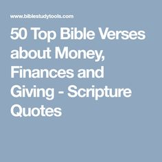 50 Top Bible Verses about Money, Finances and Giving - Scripture Quotes