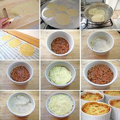 PANELATERAPIA - Blog de Culinária, Gastronomia e Receitas: Mini Lasanha