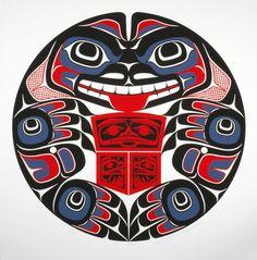 Bear Father by Yukie Adams - Click Image to Close Haida Kunst, Arte Haida, Haida Art, Native Art, Native American Art, American Symbols, Haida Tattoo, Inuit Art, Marquesan Tattoos
