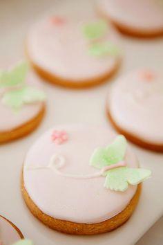 Sweet butterfly cookies